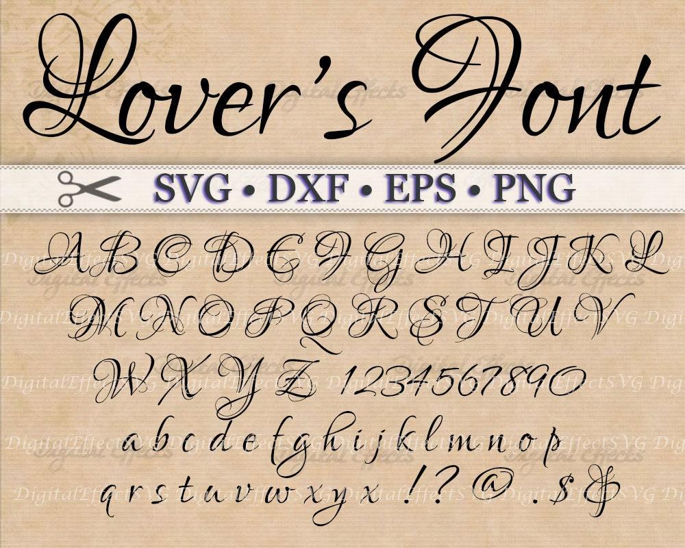 Download Lovers Fancy Script Monogram Svg, Dxf, Eps, Png; Digital ...