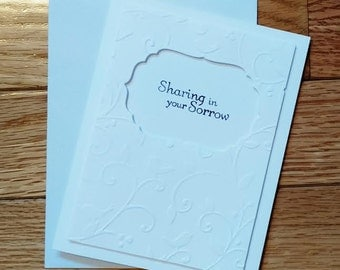 Sympathy card, Stampin up card, Funeral card, RIP card, Thoughts and prayers, Greeting card, Condolences card, hand stamped card
