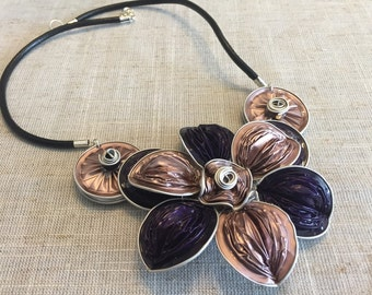 Unique handmade elegant nespresso flower necklace 1