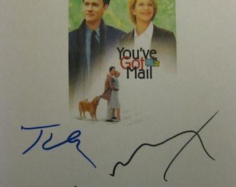 You've Got Mail signed Film Movie Screenplay script X4 Tom Hanks Meg Ryan Greg Kinnear Dabney Coleman autograph signature classic romance