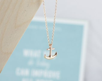Ahoy there!   Gold Anchor Chain, gold anchor necklace, anchor, gold necklace, fine chain necklace.