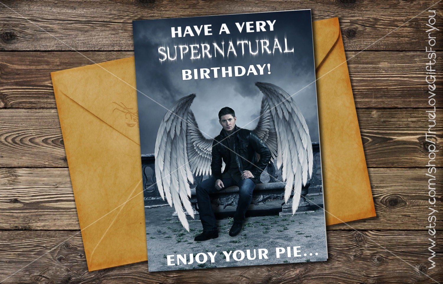 dean winchester birthday card    supernatural      printable