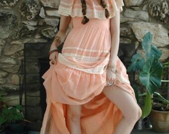 Salmon pink prairie dress