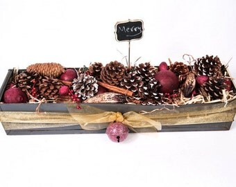 Vintage Metal Drawer with Holiday Potpourri