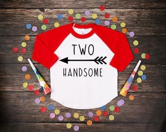 Two Handsome | Two Year Old Birthday Shirt | Second Birthday Boy Shirt | 2 Birthday Boy Shirt | 2nd Birthday Shirt | Birthday Boy