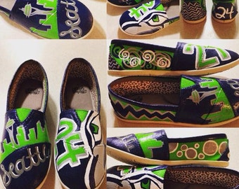 Seattle Seahawks Painted Imitation Tom's