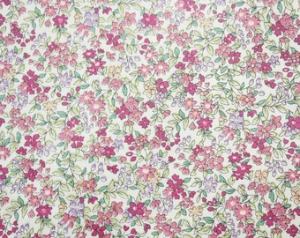 Little Flowers Fabric, Japanese Floral Fabric, Floral Fabric, Cotton, Pink Lavender, Dressmaking, Crafting, Quilting, Half Metre