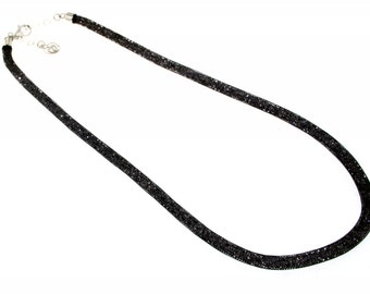 """Necklace """"candy"""" in silver with crystals-Made in Italy"""