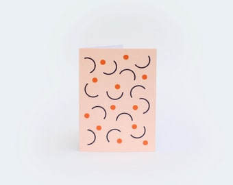 Catch Greetings Card - Orange