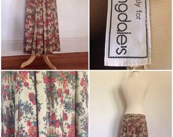 1980s Bloomingtrails Bloomingdales skirt