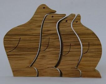 Penguins Puzzle, wood