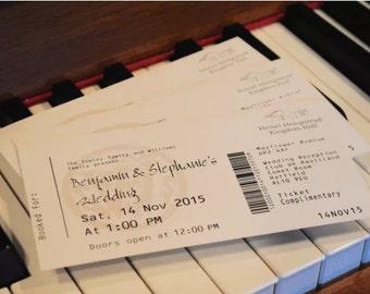 Personalised Custom Classical Concert Ticket Invitations