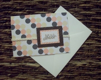 Just a note blank greeting card