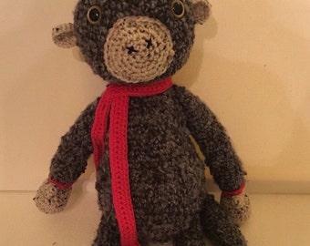 Big Adorable Crocheted Monkey, Stuffed Monkey, made to order
