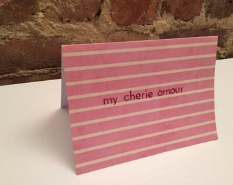 valentine's Day // My Cherie Amour Card