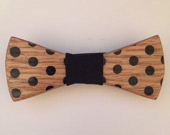 wooden bow tie and cotine