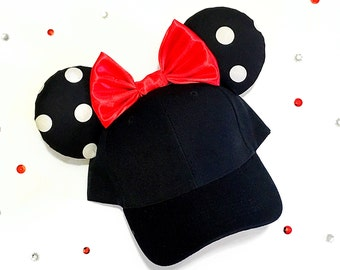 Disney inspired Minnie Mickey Mouse ears / hat