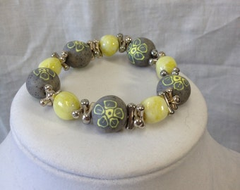 Gray/Yellow bracelet