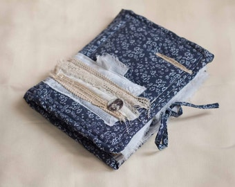 Book with fabric cover and petticoat