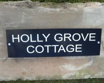 Black Acrylic House Sign