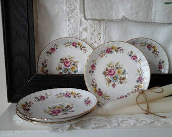 Royal Stafford saucers,vintage saucers,floral saucers,china saucers,vintage,kitchenalia,Royal Stafford,English bone china,saucer,soap dish