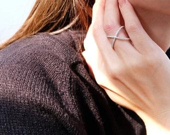 cz cross ring, criss cross ring, x ring, sideways cross ring, silver cross ring, sideways cross, cross jewelry, x cross ring, silver x ring