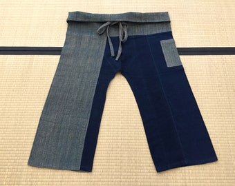 Free Size Indigo Thai Fisherman Pants - TPM5