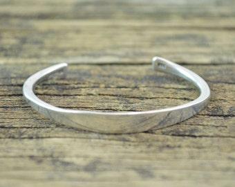 Simple Cuff Bracelet Sterling Silver 11g Vintage Estate