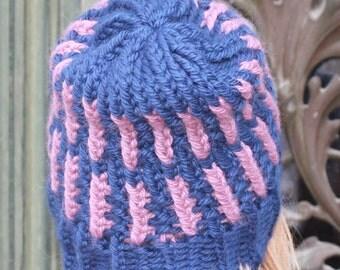 Handmade merino wool hat IlaHandMade