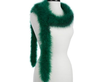 Hunter Green 25 Gram Marabou Feather Boas - Use as Trim or Wear as a Scarf