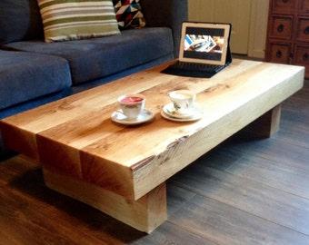 Oak sleeper Coffee Table, coffee table, sleeper table, oak coffee table. sleeper coffee table, low coffee table, wood coffee table