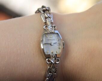 Vintage wittnauer mens watch unisex watches rectangular vintage ladies 14k wittnauer diamond wrist watch diamond wrist watch womens wrist watch sciox Choice Image