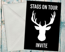 Stag Party Invite, Stag Night Invite, Bachelor Party Invite, Stag Weekend Invite