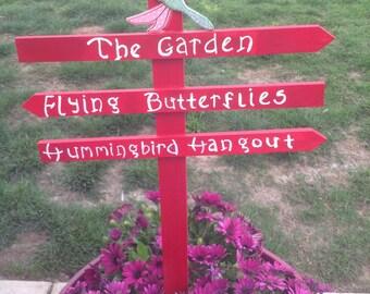 Hummingbird~Butterfly Garden Sign