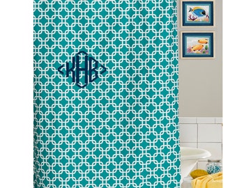 Turquoise Metro Shower Curtain