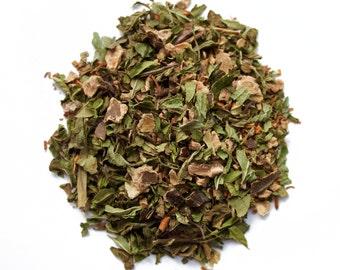 Mint Chocolate Rooibos Tea: Mint Chocola-Tea, redbush tea, chocolate tea, loose tea, chocolate lover gift, tea gift, gift for tea lover
