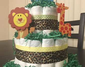 Safari 2-Tier Diaper Cake