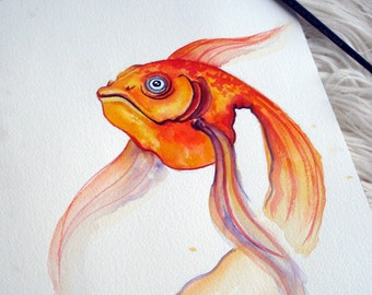 Goldfish - original watercolor painting