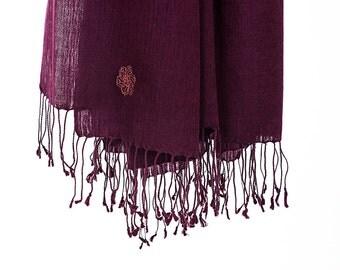 50% cashmere/silk scarf - purple (SHKS3)