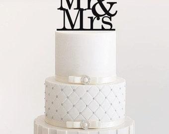 Wedding Cake Topper Mr & Mrs acrylic