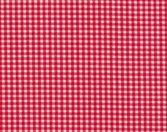 Euro Sham, Tailored, Cherry Red Gingham Check