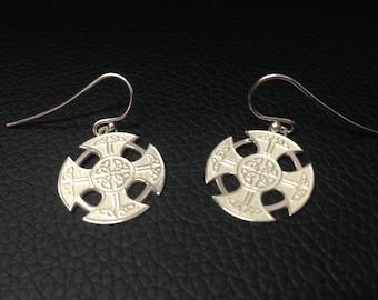 Celtic Earrings - Sterling Silver