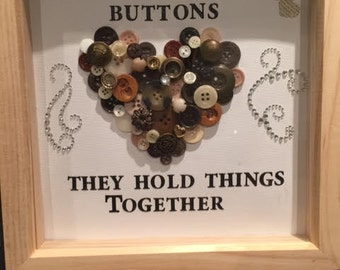 Mums/Moms Are Like Buttons Box Frames~Bespoke