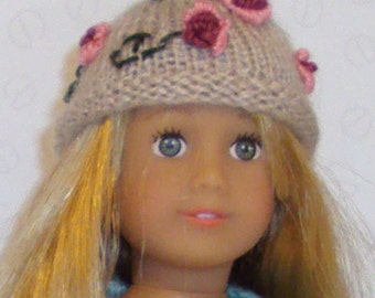 Pretty flowery hat to fit American Girl Minidoll