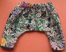 Harem pants - green batik