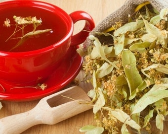 2oz organic Linden, dried, tilia, natural, greek, herb, tea, bath, herbal, wicca, pagan, magic, witchcraft, medicine,