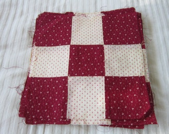 Lot of 49 9-Patch Quilt Blocks, 1880ss to 1890s Fabrics