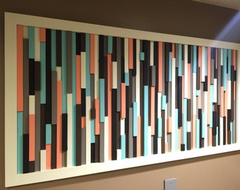 "Abstract Wood Stripes, ""Cotton Candy"""