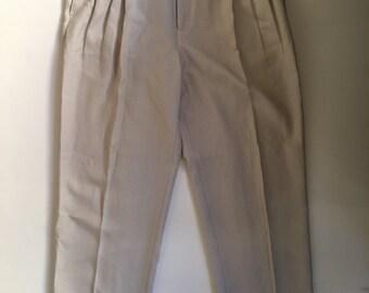 Vintage MODA LOOK Beige Pants Size 46