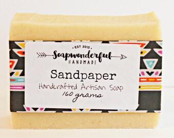 Sandpaper Pumice Citrus Cold Process Soap Bar